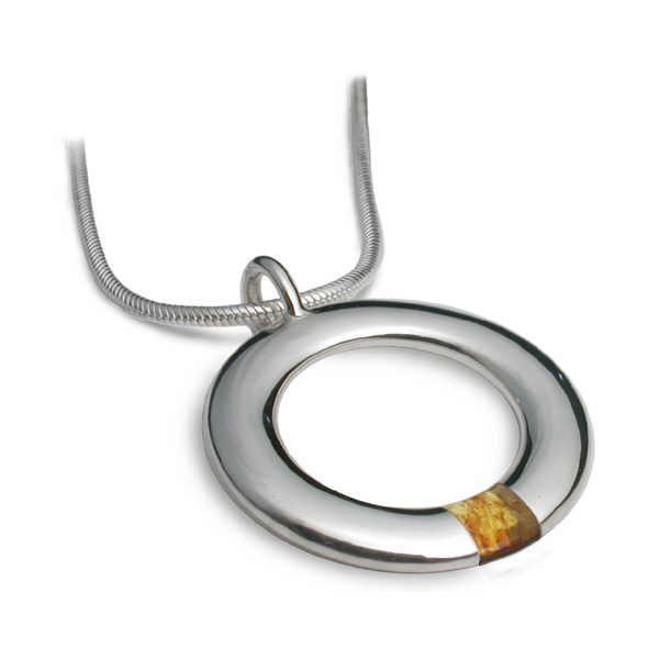 Amber hoop necklace