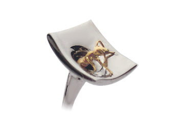 Close up of ant cufflinks