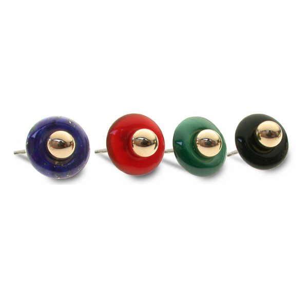 Stone set polo earrings