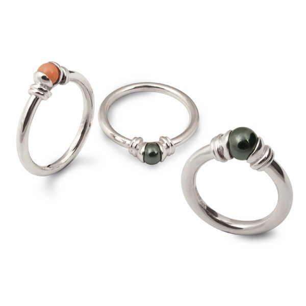 Stone bead rings