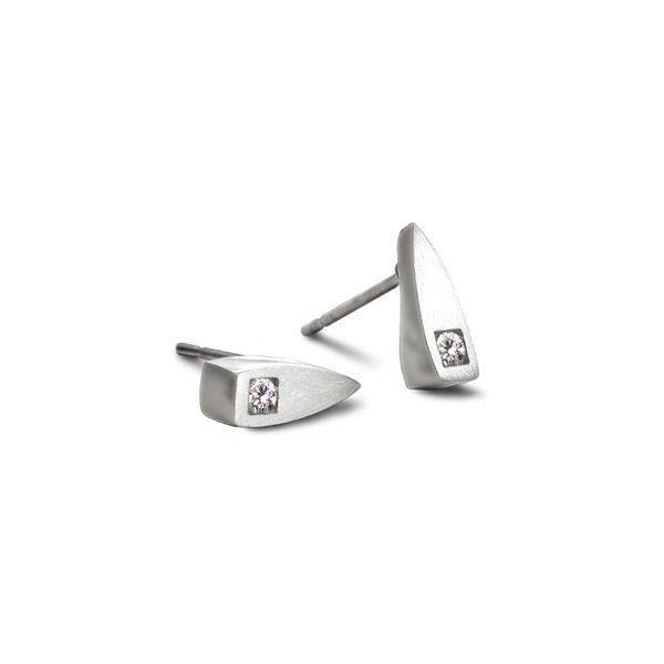 Satin silver earrings