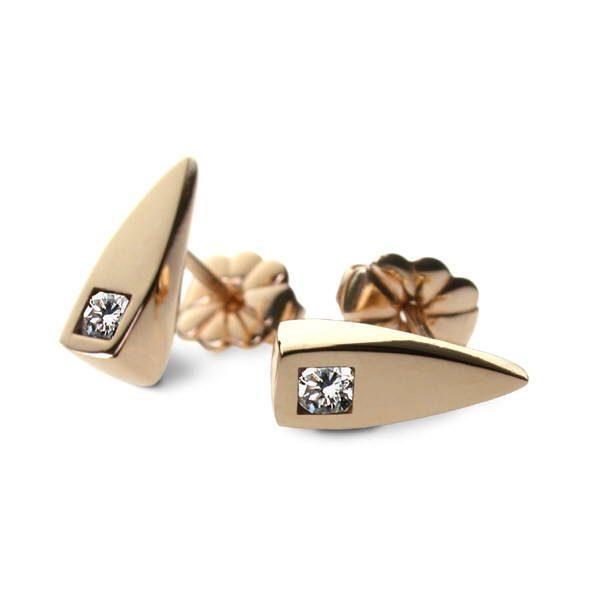Satin gold earrings