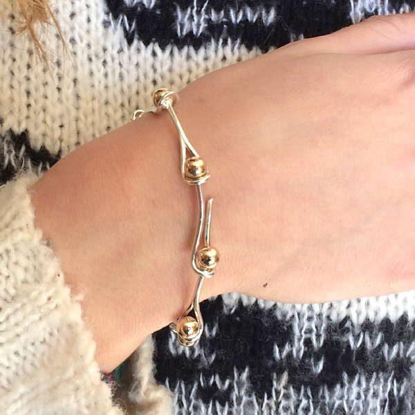 interlink bracelet on wrist