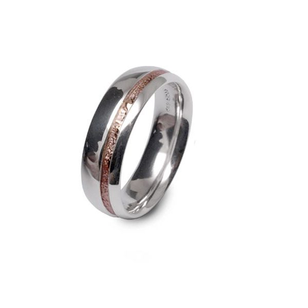 Silver and rose gold band
