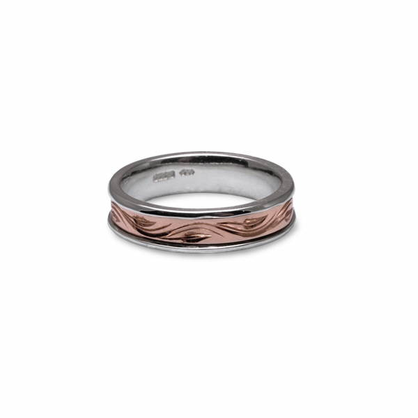 Rose gold vine ring