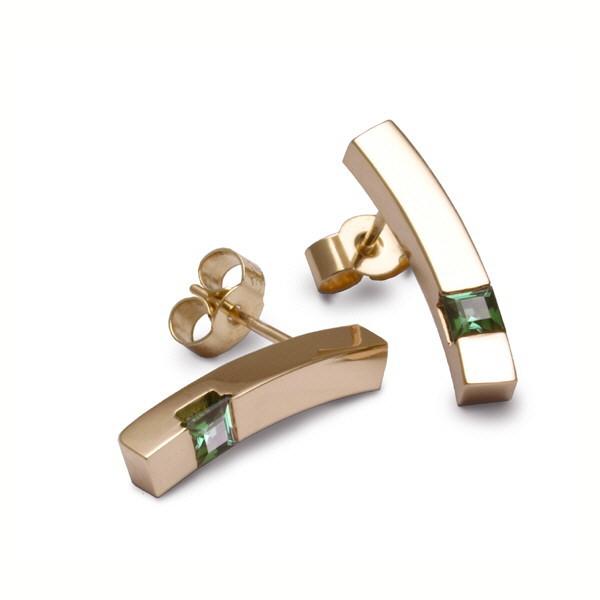 tourmaline curves earrings