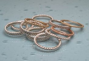 Stack of beaded rings