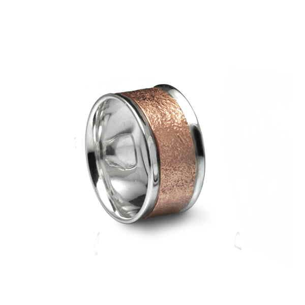 rose gold reticulated ring